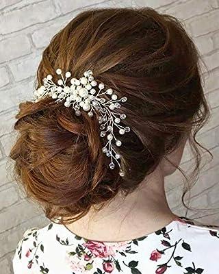 Kercisbeauty Wedding Simple Pearl Hair Comb For Brides Bridal