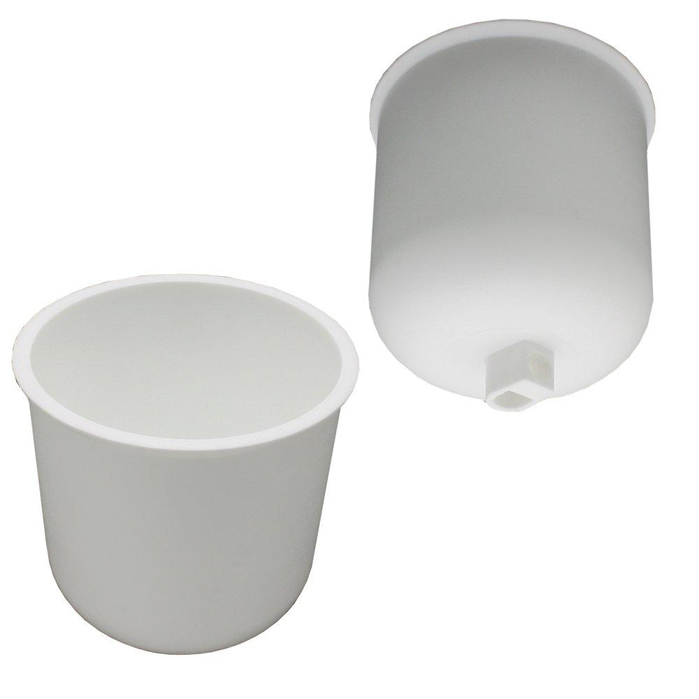 Canopy White Matte Plastic with Fixing Screws for Lead Lamp Cable Pendant Lamp Light Lamp Ceiling Pot Pot Diameter 76 mm Height 82 mm C. Palme Leuchten