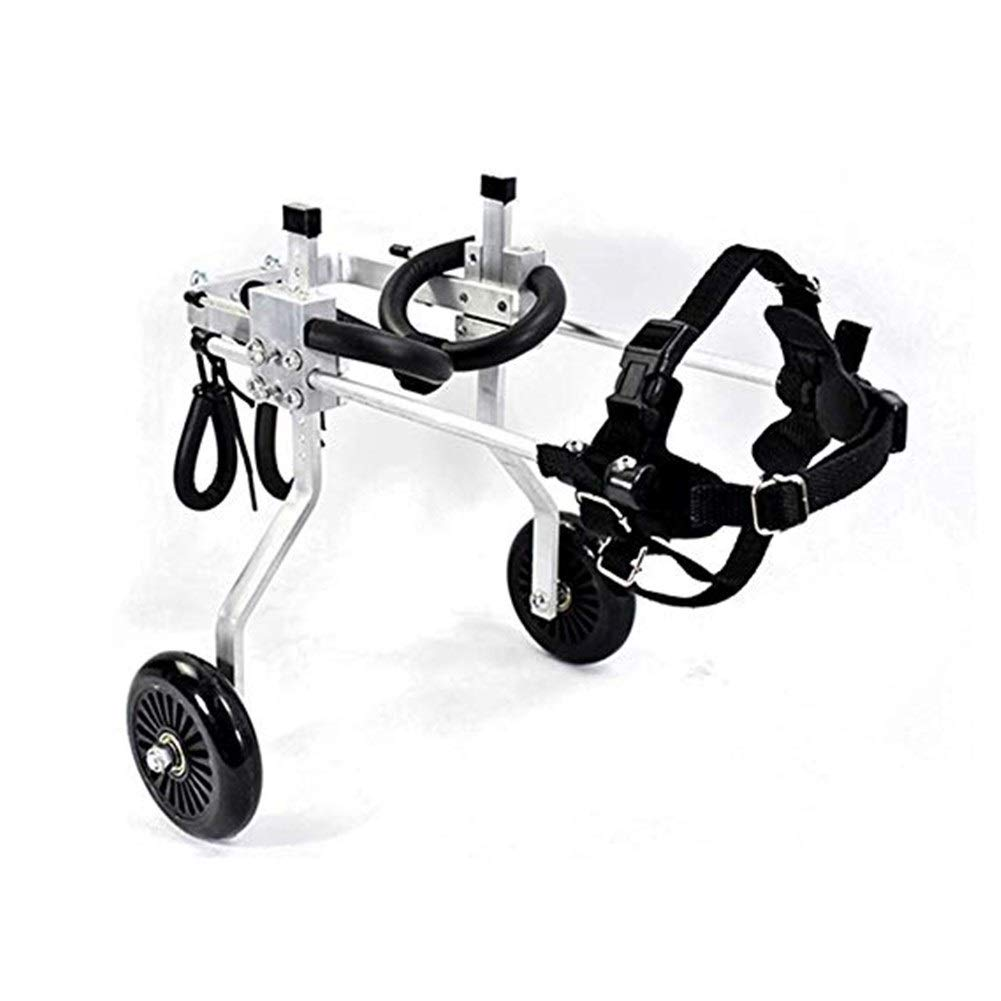 LMCWLY Dog Wheelchair, Adjustable Pet Wheelchair Rear Leg Scooter, Disabled Dog Hind Leg Repair Pet Bicycle, Pet Hind Limb Rehabilitation Wheelchair by LMCWLY