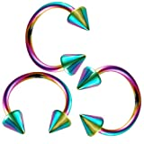 tragus ear jewelry monroe 3 8 eyebrow rings 16 gauge earrings steel 1.2mm - Best Reviews Guide