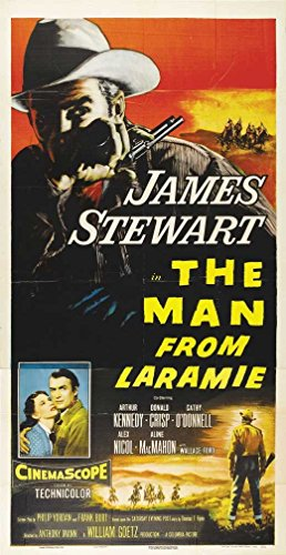 The Man From Laramie Announcement Movie 20 x 40 Inches - 51cm x 102cm James Stewart Arthur Kennedy Donald Crisp Alex Nicol Cathy O'Donnell Aline MacMahon Wallace Ford