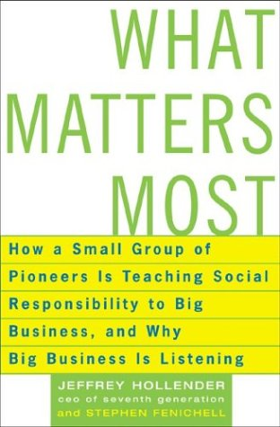 What Matters Most: How A Small Group Of Pioneers Is Teaching Social Responsibility To Big Business, And Why Big Business