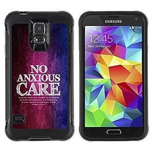 Suave TPU GEL Carcasa Funda Silicona Blando Estuche Caso de protección (para) Samsung Galaxy S5 V / CECELL Phone case / / BIBLE Philippians 4:6 No Anxious Care /