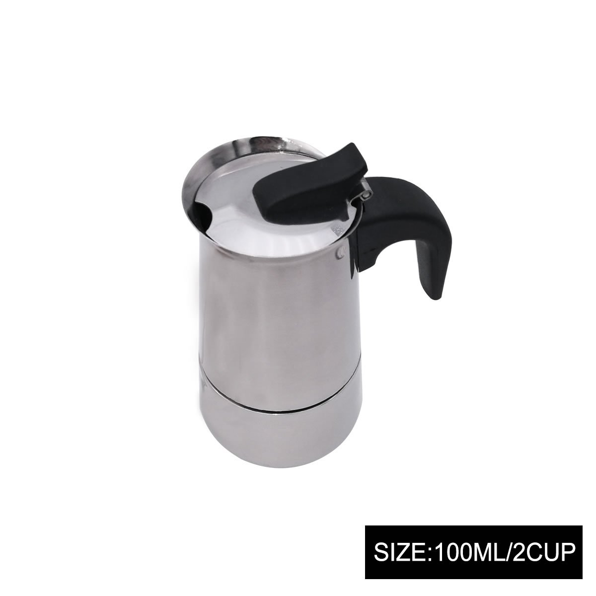 GOODFEER LONGLISHENG 2 Cup Stainless Steel Mocha Pot Detachable Design Aluminum Alloy Coffee Maker