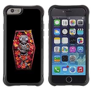 Suave TPU GEL Carcasa Funda Silicona Blando Estuche Caso de protección (para) Apple Iphone 6 / CECELL Phone case / / Skull Coffin Death Diamond Skeleton /