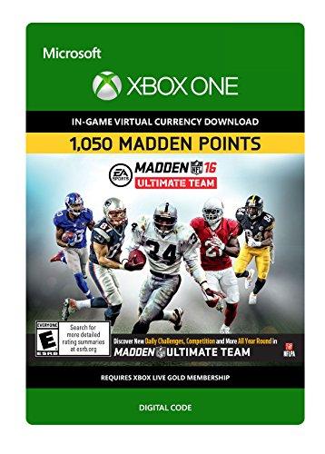 Madden NFL 16: 1050 Points - Xbox One Digital Code