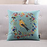 YJYS LJBY More colors American country-style pillow PP cotton back cushion Sofa bedside cotton and linen pillowcase-A 55x55cm(22x22inch) VersionA