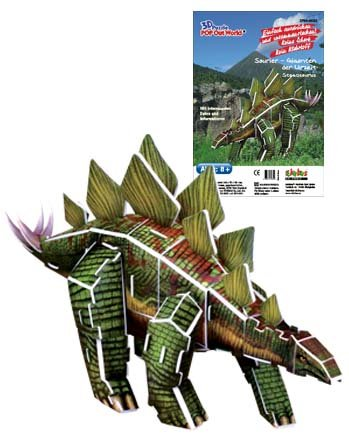 Puzzles & Geduldspiele 3D Puzzle Dinosaurier Stegosaurus 40 Teile ab 8 Ja.