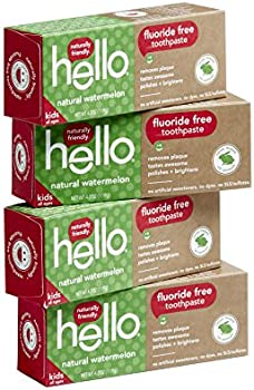 4-Count Hello Oral Care Kids Fluoride Free Toothpaste (Natural Watermelon)
