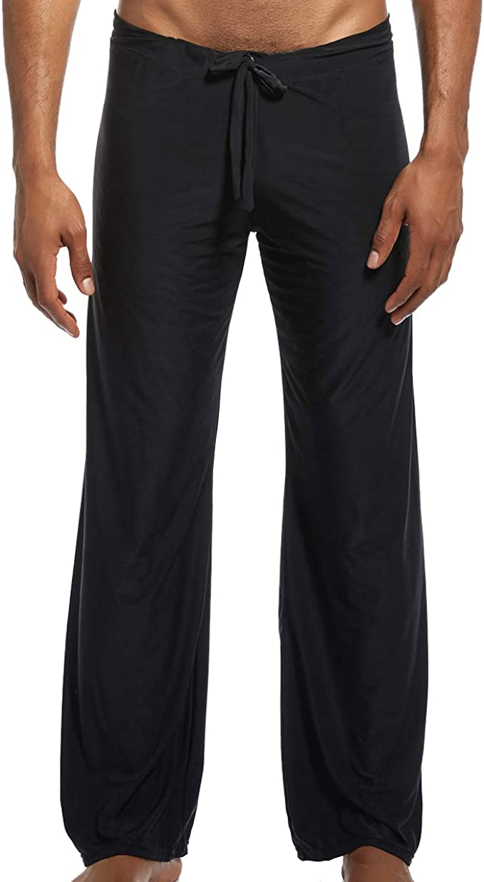 iYunyi Mens Loose Lounge Pants Sleep Trousers Bottoms Homewear Yoga Pants Pajama