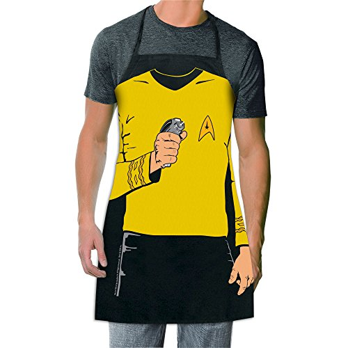 ICUP Star Trek - Captain Kirk be The Character Adult Size 100% Cotton Adjustable Black Apron
