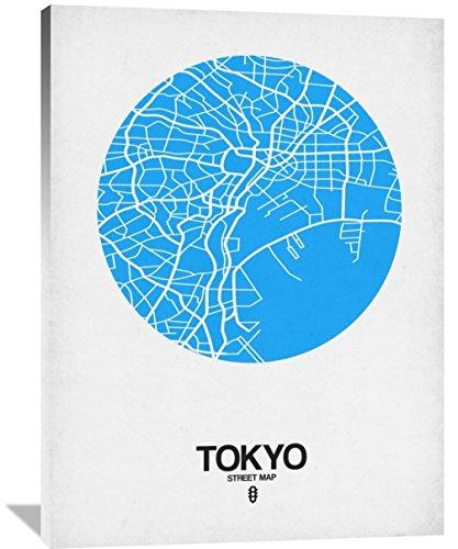 "Naxart Studio ""Tokyo Street Map Blue"" Giclee on Canvas, 36"" x 1.5"" x 48"" from Naxart Studio"