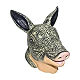 Realistic Armadillo Mask: Full Face Rubber Latex Costume Mask