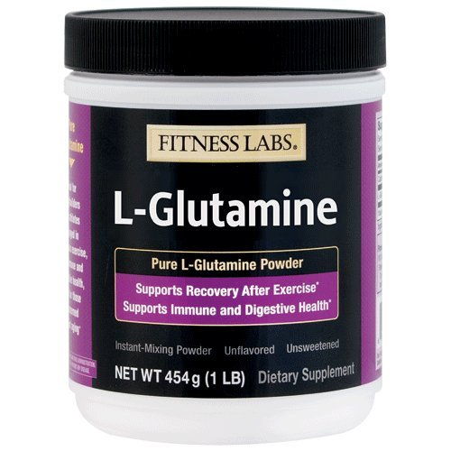 Fitness Labs L-Glutamine Powder, 89 Servings, 1 pound (454 grams) by FITNESS LABS