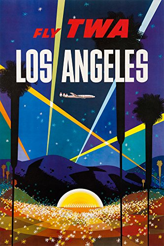 (Digital Fusion Prints TWA (Los Angeles - Hollywood) Vintage Travel Poster 24