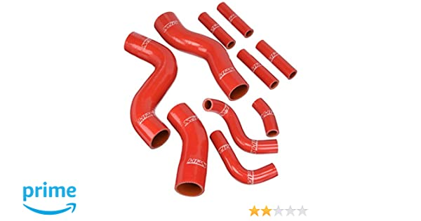 Silicone Radiator Hose for Toyota Land Cruiser FZJ80 4.5L I6 1FZFE 1992-1997 Red