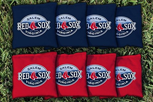 Victory Tailgate 8 Salem Red Sox MiLB Regulation Corn Filled Cornhole Bags by Victory Tailgate
