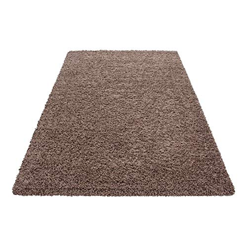 Hochflor Shaggy Teppich für Wohnzimmer Wohnzimmer Wohnzimmer Langflor Pflegeleicht Schadsstof geprüft 3 cm Florhöhe Oeko Tex Standarts Teppich, Maße 160x230 cm, Farbe Creme B0178SD7RO Teppiche cfced3
