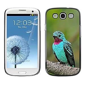 SKCASE Center / Funda Carcasa - Pájaro tropical púrpura pluma;;;;;;;; - Samsung Galaxy S3