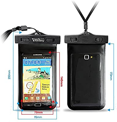 TouchAbility Waterproof Pouch Dry Bag Case For Mobile Phones ...