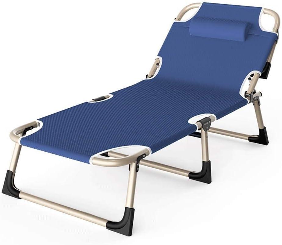 JFya Sillas Plegables Silla de salón sillones reclinables reclinable Ajustable, Silla de jardín, sillas de Playa, Hamaca, reclinable portátil, Balcón, Tomar el Sol de Oficina, sillas de la Siesta