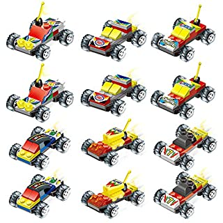 Party Favors for Kids Mini Building Blocks Vehicle Car STEM Toys for Birthday Favors, Goody Bags Fillers, Carnival Prizes, Rewards for Boys & Girls