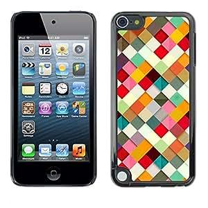 TopCaseStore / la caja del caucho duro de la cubierta de protección de la piel - 3D Paper Pattern Colorful - Apple iPod Touch 5
