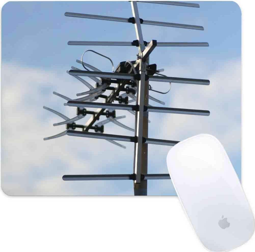 Mouse Pad Rectangle Mouse Pad Aerial Television Sky Antenna Tv Telly Technology #619950 Cute