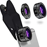 OxVi Professional,Premium Quality, HD Phone Camera Lens Kit, 0.35x Ultra Super Wide Angle Lens, 15x Macro Lens, Universal Clip for IPhone 7 Plus / 6 / 5 Samsung / Android Smartphone