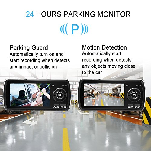 Dash Cam,AuKing 2.7'' LCD Full HD 1080P in Car Cam DVR Dashboard, Video Recorder, with G-Sensor, Automatic Loop Recording, WDR, Parking Monitoring,Motion Detection by AuKing (Image #3)