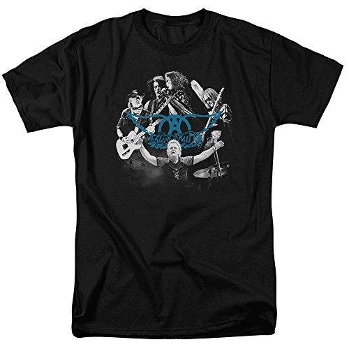 shirt Aerosmith Rock T Round nero per N uomo BxwI4ATxq