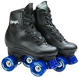 Chicago Skates Unisex Youth Rink Skate (Toddler/Little Kid/Big Kid) Black/Blue Roller Skates 4 Big Kid Medium