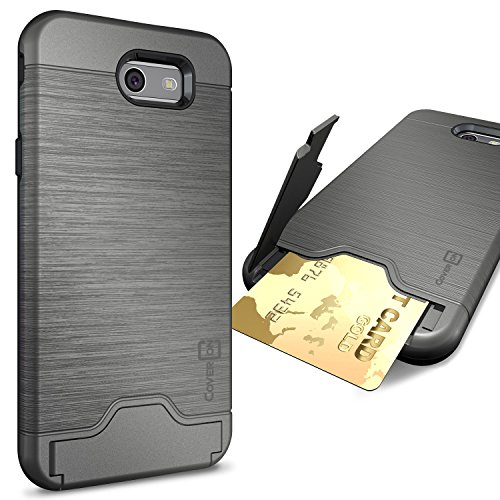 CoverON SecureCard Kickstand Samsung Gunmetal product image