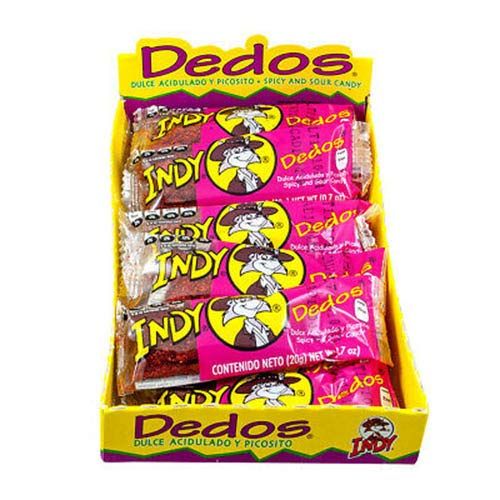 Indy Dedos Spicy and Sour Mexican Candy, 8.4 oz. 12 Count