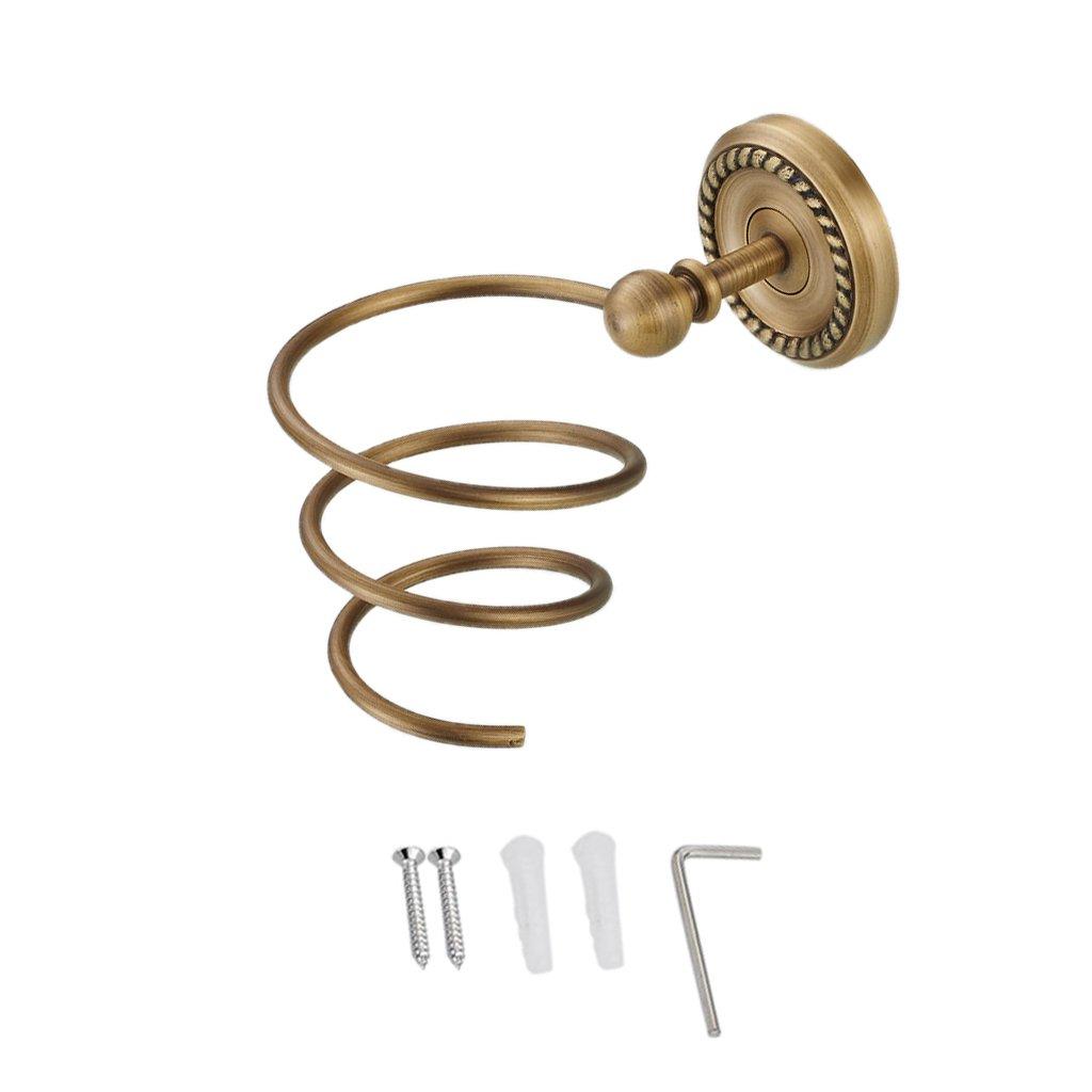 MonkeyJack Bathroom Fittings Hair Dryer Holder Idea for Hotel/Motel/Home Solid Brass