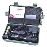 Sixpi 5000 Lumens MAX ,Super Bright X800 Shadowhawk T6 LED Flashlight Torch Lamp G700 Light Kit For Camping and Hiking Biking Home Emergency