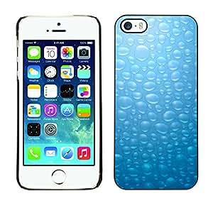 [Neutron-Star] Snap-on Series Teléfono Carcasa Funda Case Caso para iPhone 5 / 5S [Burbujas de cristal azul]