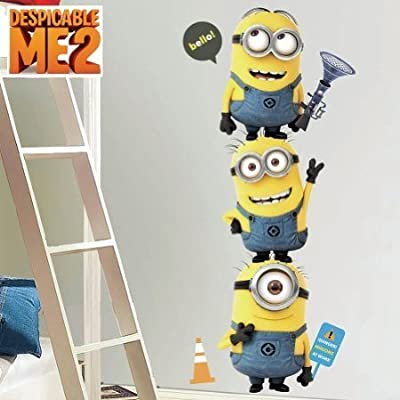 Despicable Me 2 Minions Wall Decal Set Home Movie Theater Game Room Decor