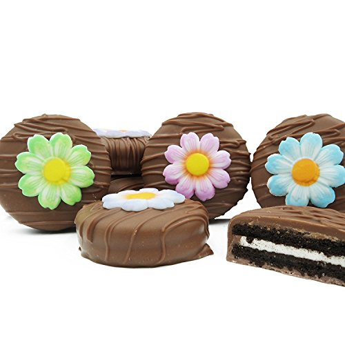 Philadelphia Candies Milk Chocolate Covered OREO Cookies, Daisies Flower Gift 8 oz