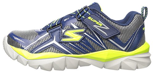 Skechers Kids Electronz Sneaker (Little Kid/Big Kid), Navy/Lime, 12 M US Little Kid