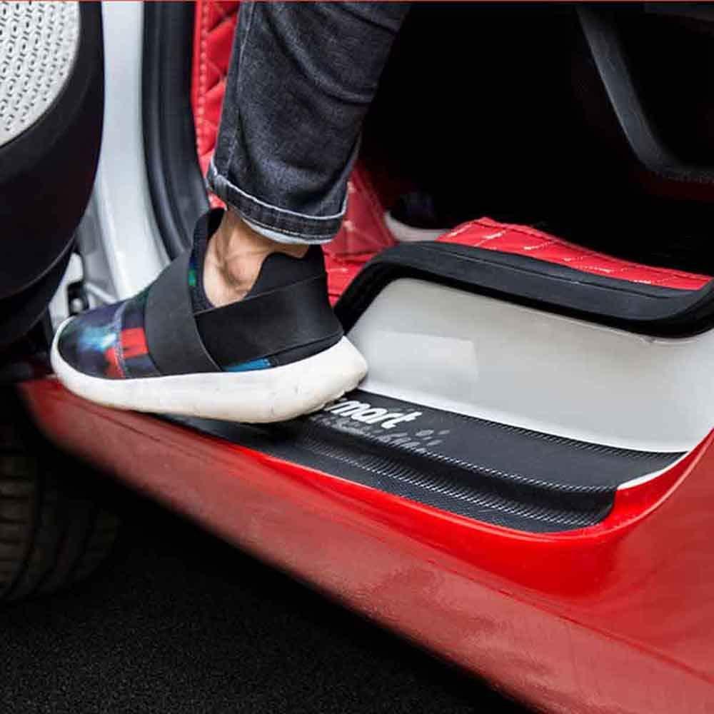 AniFM Davanzali in Fibra di Carbonio battitacco Protezioni davanzali per Mercedes Benz Smart Fortwo Forfour Car Sticker Accessori Auto,A