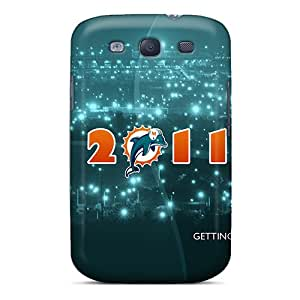 TimeaJoyce Samsung Galaxy S3 Durable Hard Cell-phone Cases Support Personal Customs Stylish Miami Dolphins Pattern [ReM290AQXO]