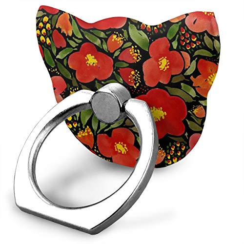 Ubnz79X Watercolor Red Poppy Flower Phone Ring Grip & Stand, for All Phones/Tablets - 360 Rotate - Never Drop Your