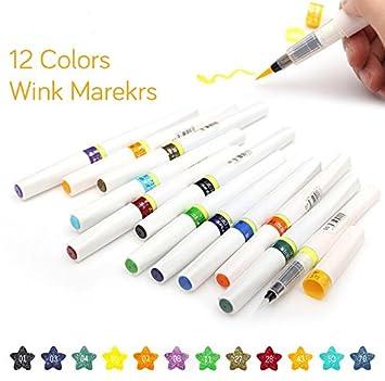 Con purpurina juego de rotuladores marcadores de arte pintura ...