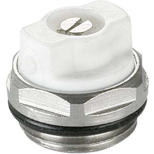 MANUAL RADIATOR AIR VENT BLEED PLUG VALVE 1/2' BSP (15mm) White 1 x PCS myhomeware