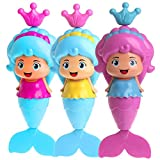 #4: Conquer Baby - Baby Bath Toy - Mermaid Wind Up Floating Water Toy for Kids and Toddlers - Swimming Pool Water Beach Bathing Time Bath Tub Fun BPA free - One Piece