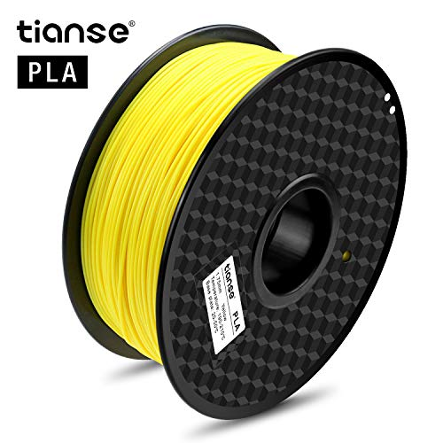 TIANSE 1.75mm Filament PLA Fluorescent Yellow for 3D Printer,1KG Spool Filament for 3D Printing, Dimensional Accuracy +/- 0.03 mm