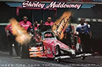 Shirley Muldowney Autographed Large Promotional Drag Racing Hot Rod NHRA 17x11 - Autographed Sports Photos from Sports Memorabilia