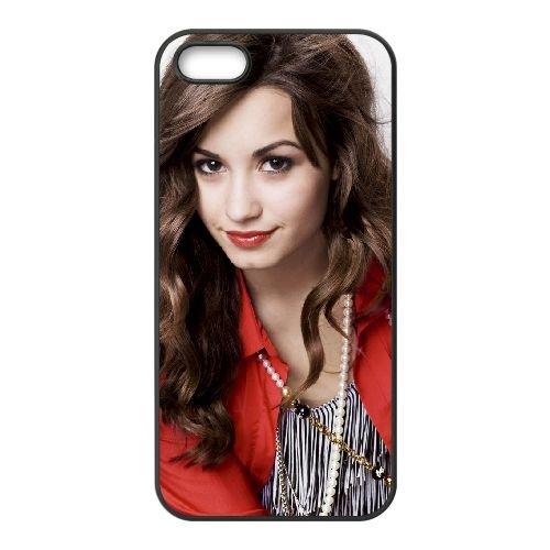 Demi Lovato 005 2 coque iPhone 5 5S cellulaire cas coque de téléphone cas téléphone cellulaire noir couvercle EOKXLLNCD23141