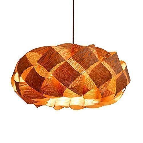 Handmade Wood Braids Hanging 3-Light Pendant Lamp! made of Chinese ash wood (Wood Plywood Veneers)